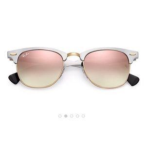 Clubmaster Aluminum Gradient Ray-Ban Sunglasses